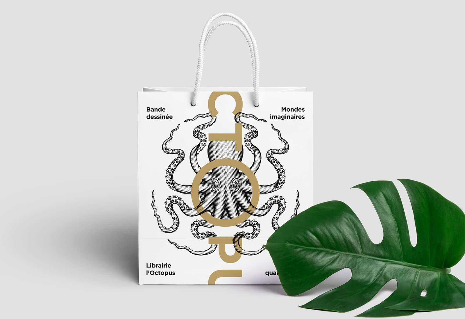 libraire octopus sac