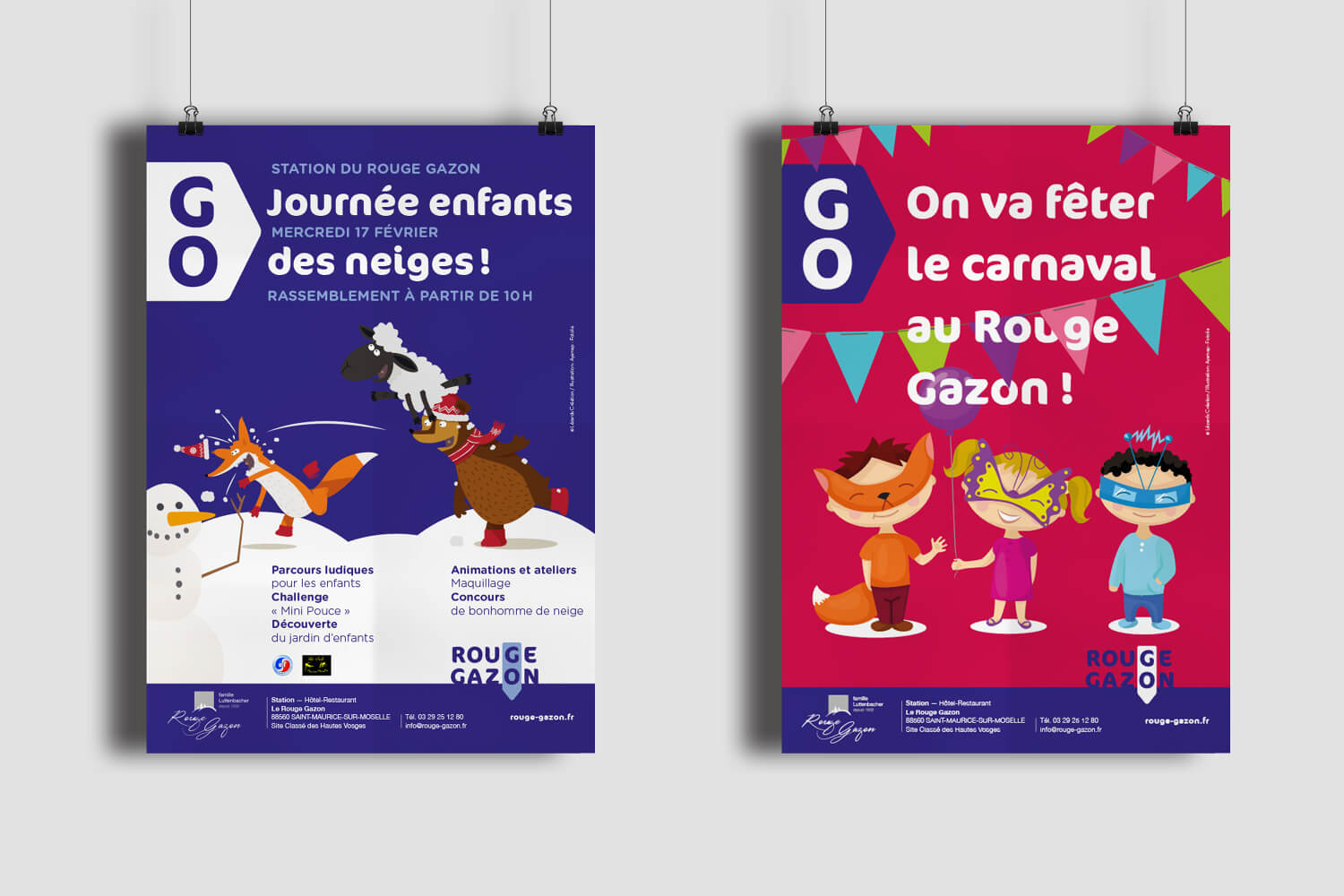 rouge gazon affiche