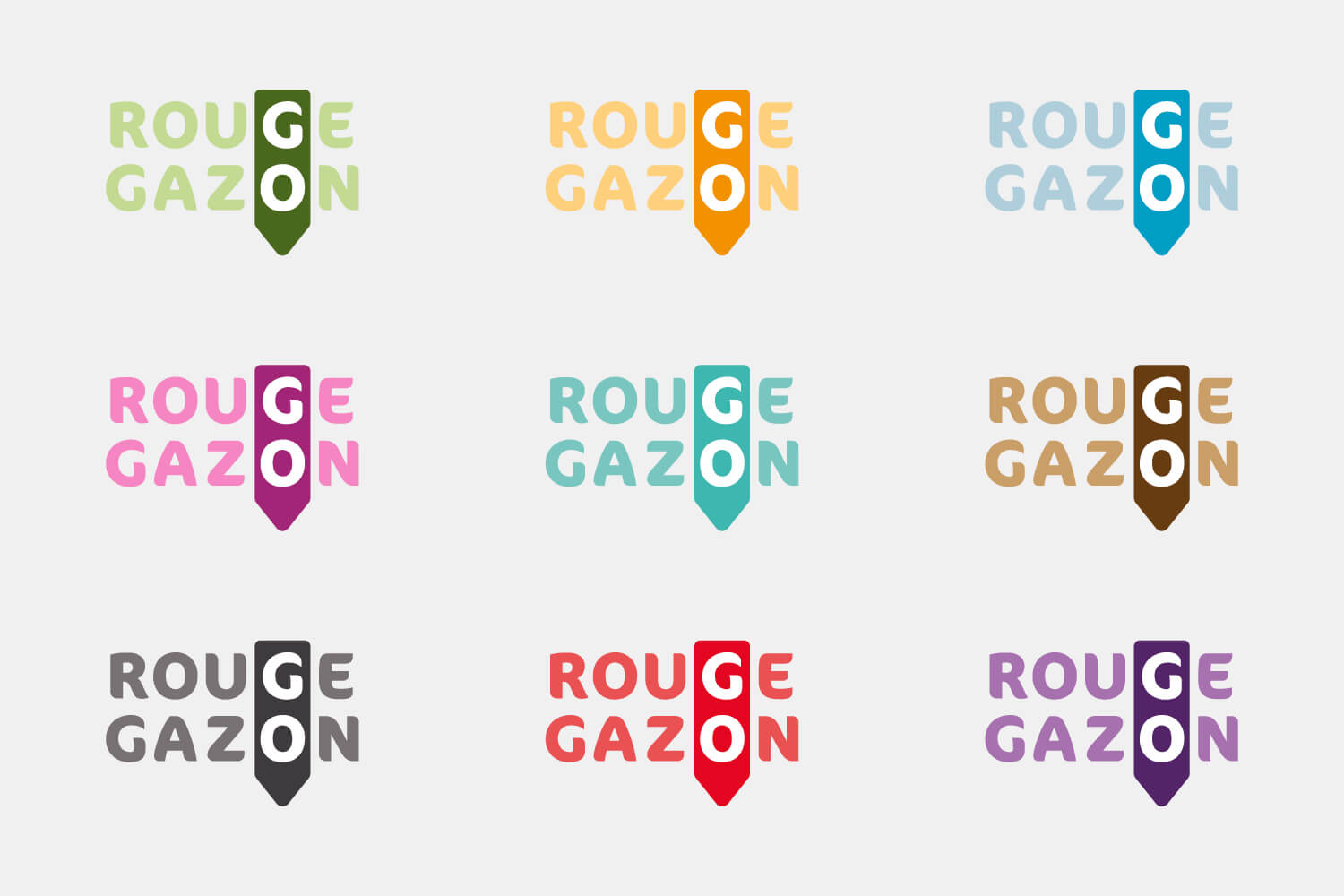 rouge gazon identite couleurs