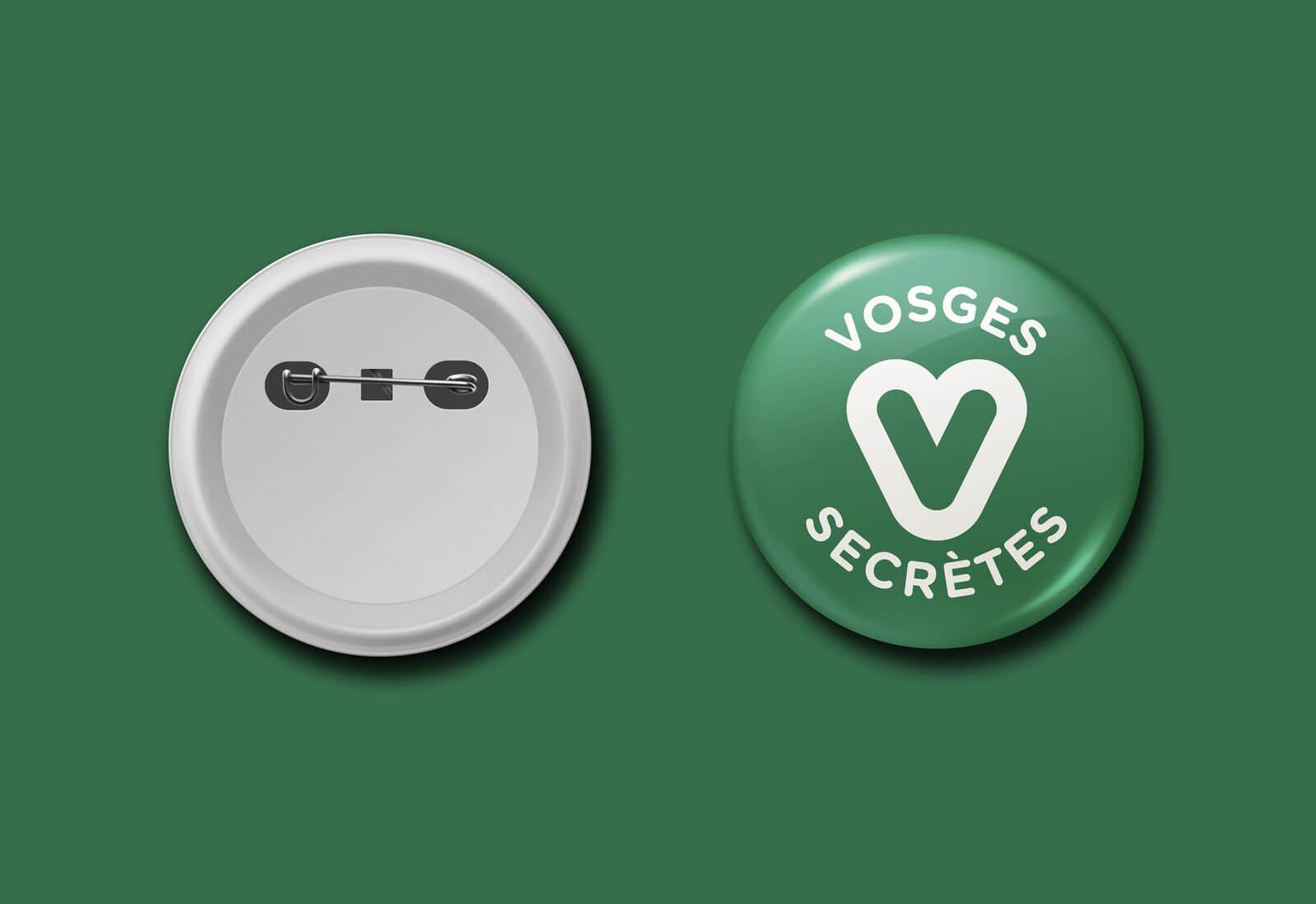 lezardscreation agence communication publicite vosges remiremont vosges secretes vosges secretes badge