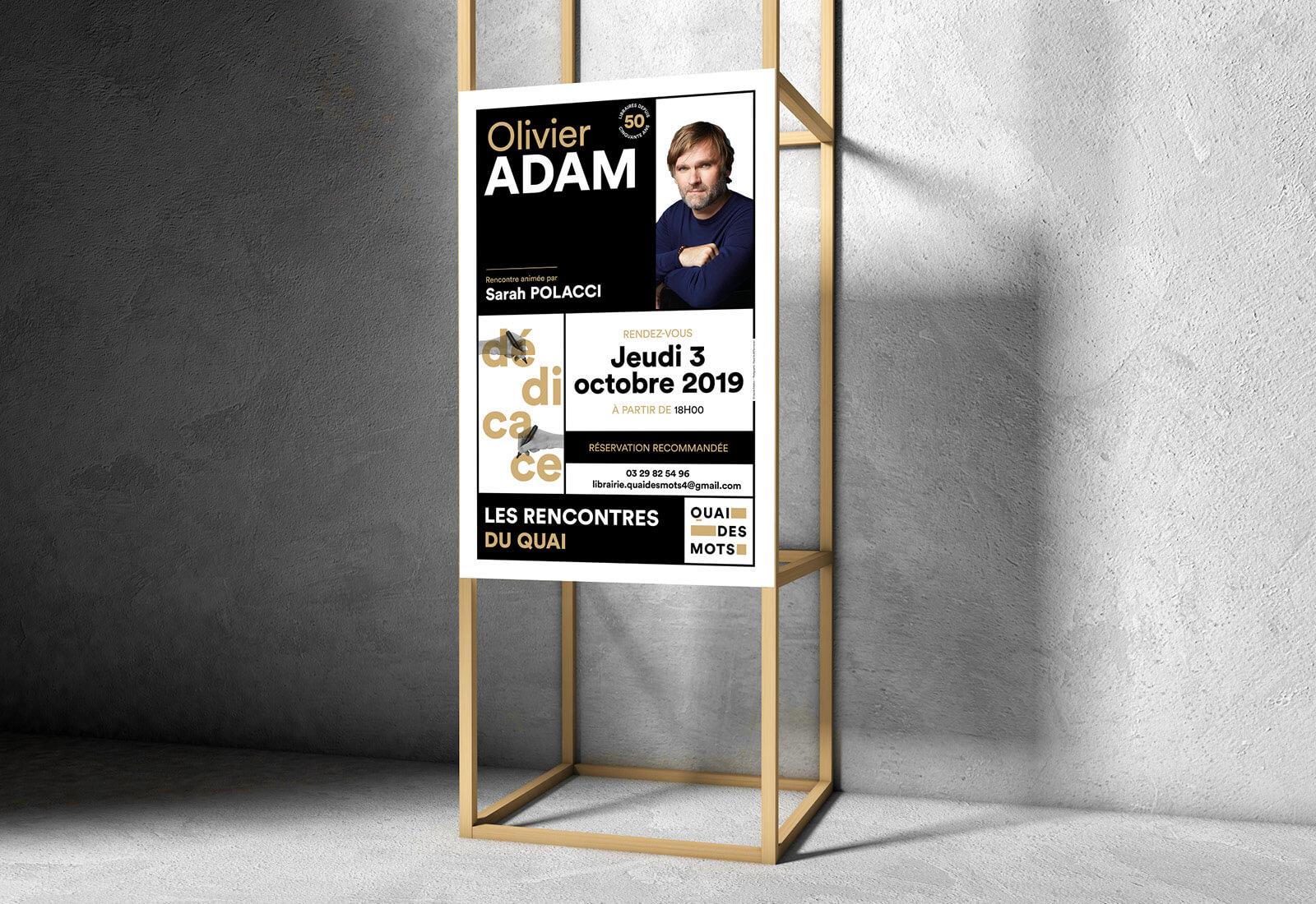 lezardscreation agence communication publicite vosges remiremont quai des mots lezards creation quai des mots affiche