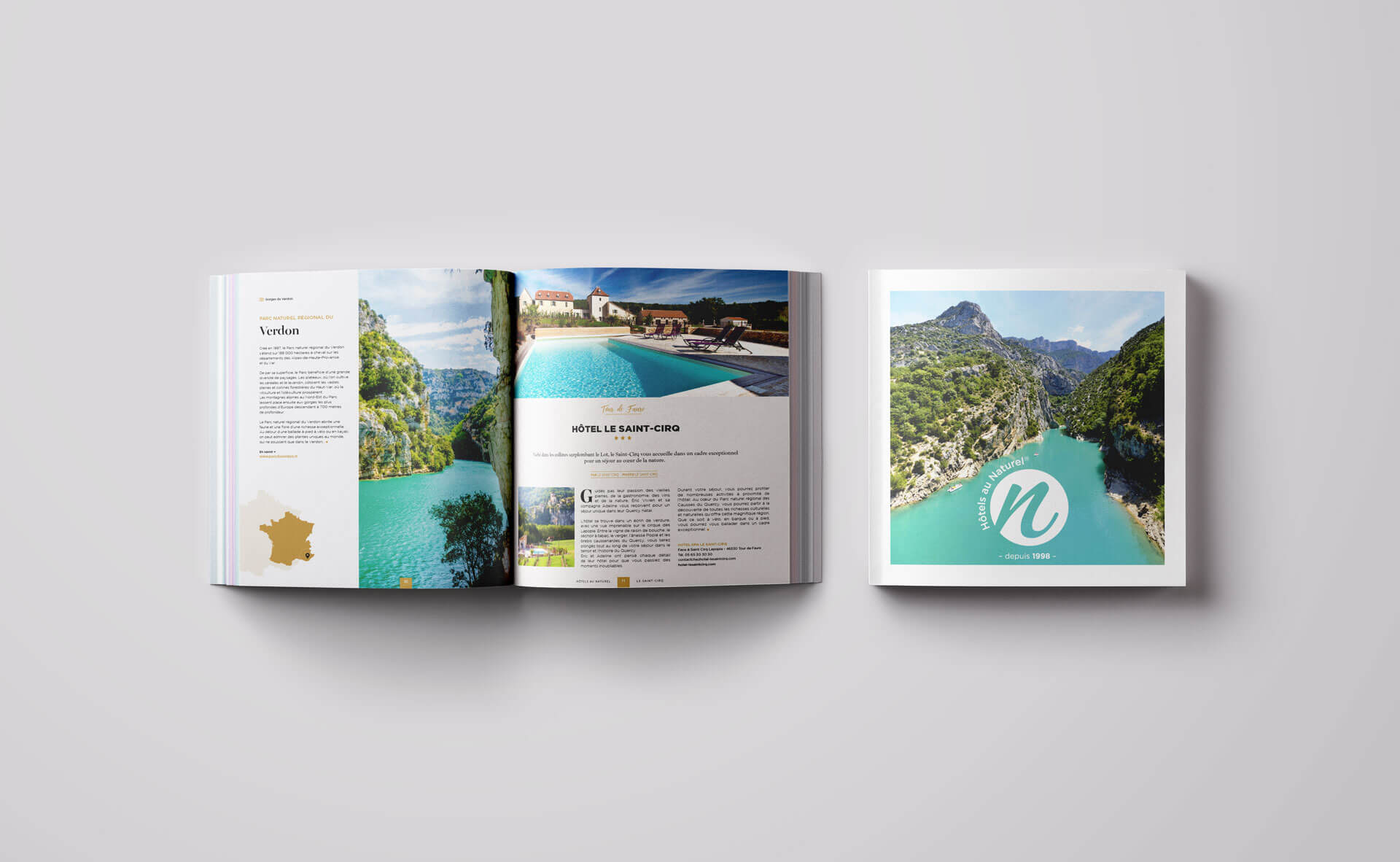 lezardscreation agence communication publicite vosges remiremont hotels au naturel square magazine mockup