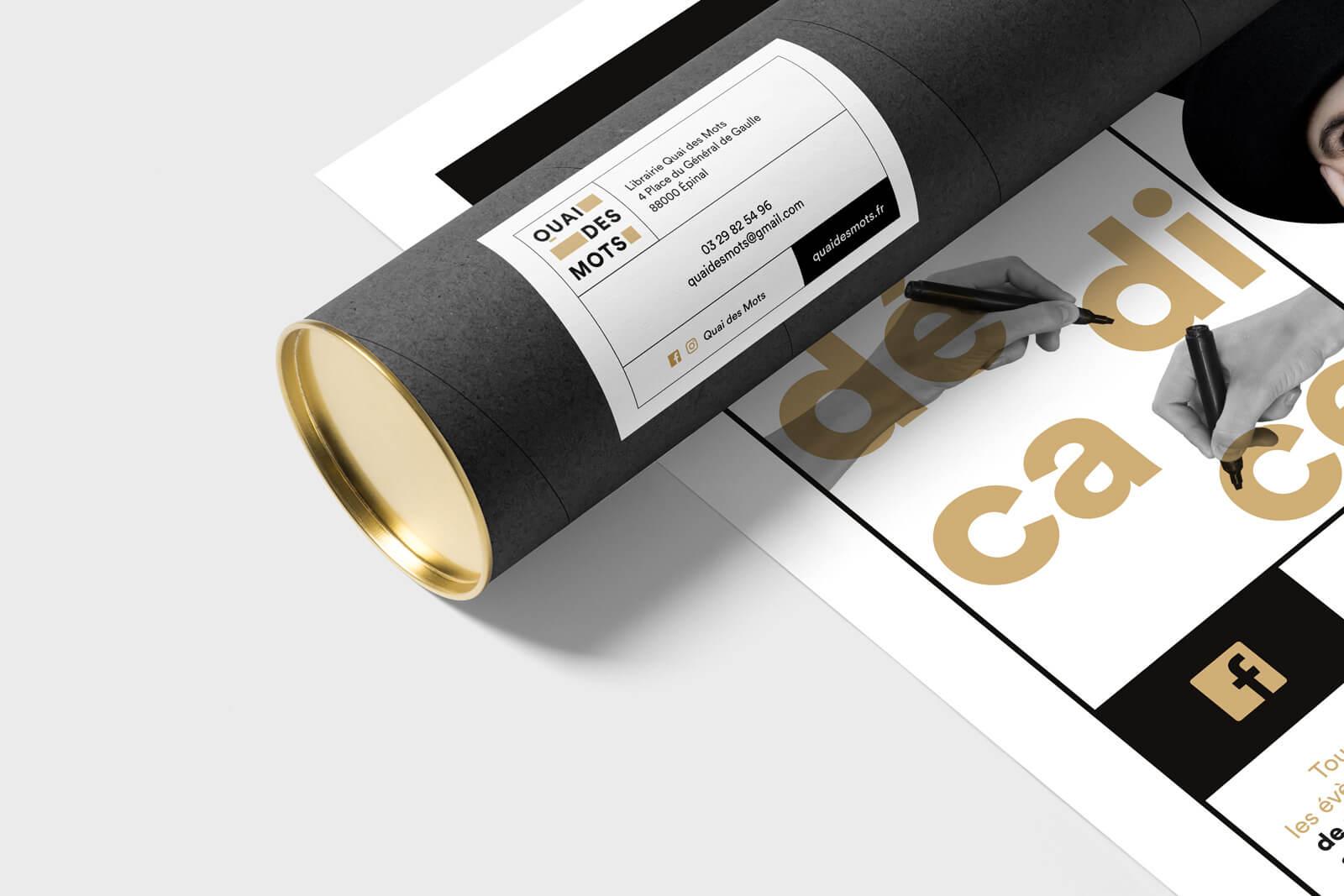 lezardscreation agence communication publicite vosges remiremont quai des mots quai des mots lezards creation affiche tube