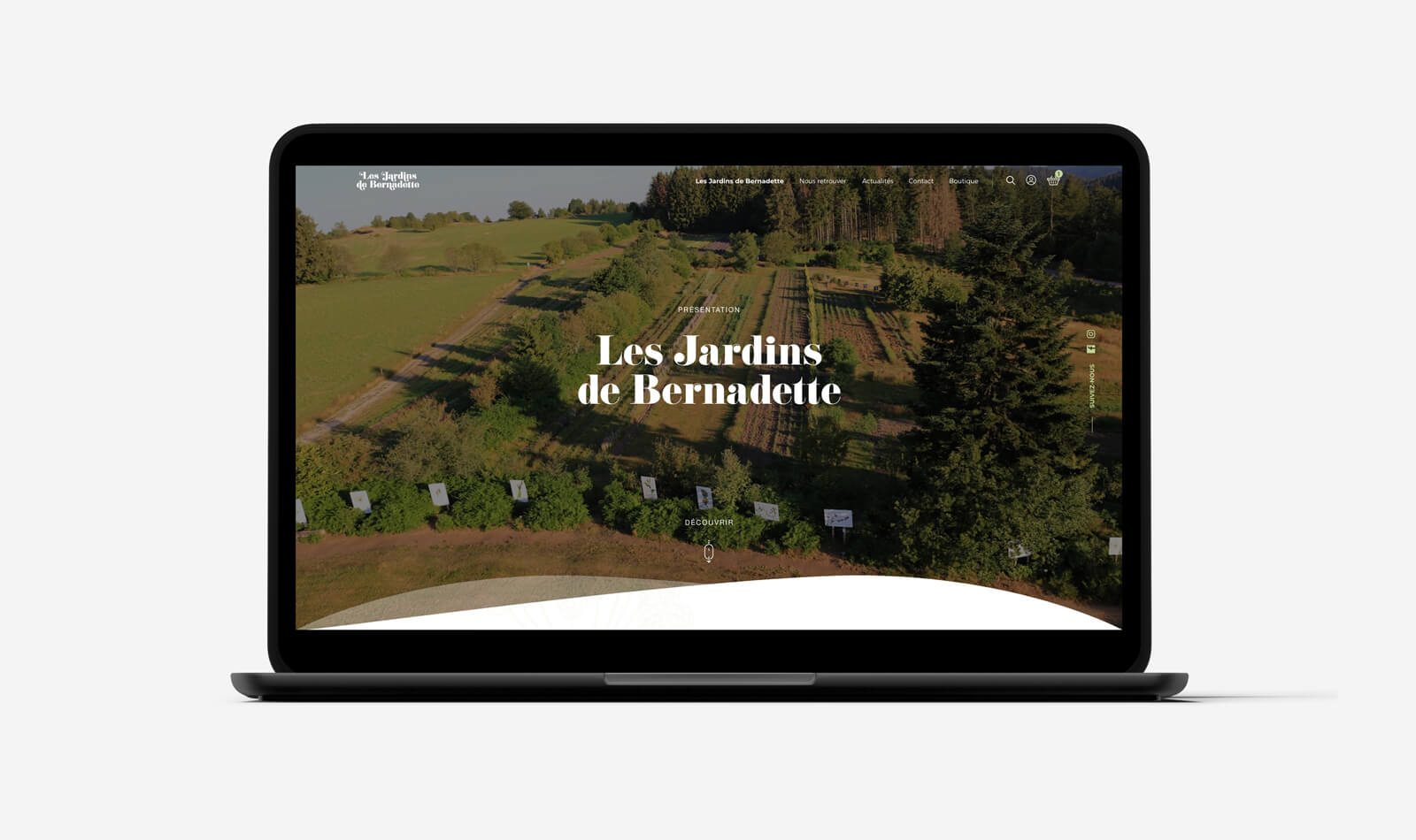 lezardscreation agence communication publicite vosges remiremont les jardins de bernadette les jardins de bernadette macbook lezards creation