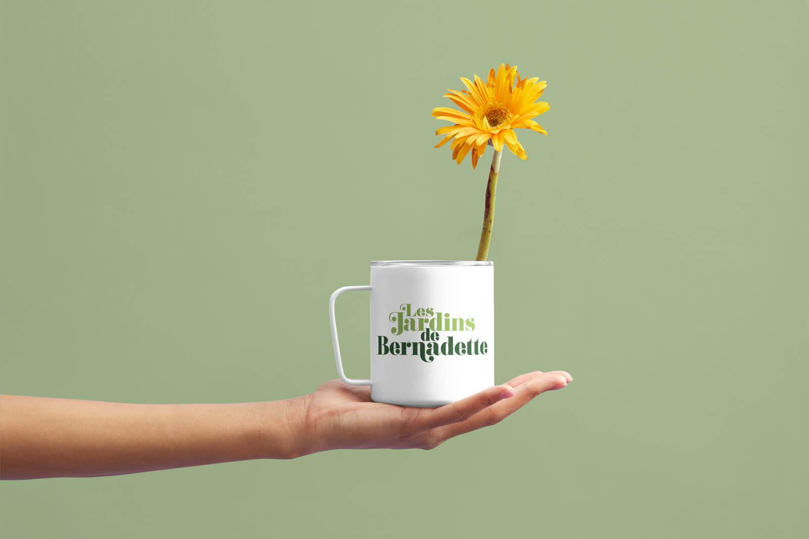 lezardscreation agence communication publicite vosges remiremont les jardins de bernadette les jardins de bernadette mug projet lezards creation