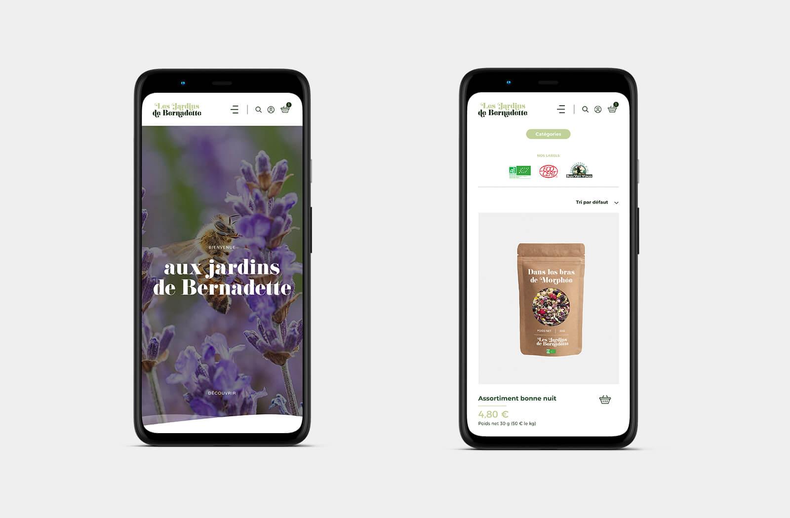 lezardscreation agence communication publicite vosges remiremont les jardins de bernadette les jardins de bernadette lezards creation portable