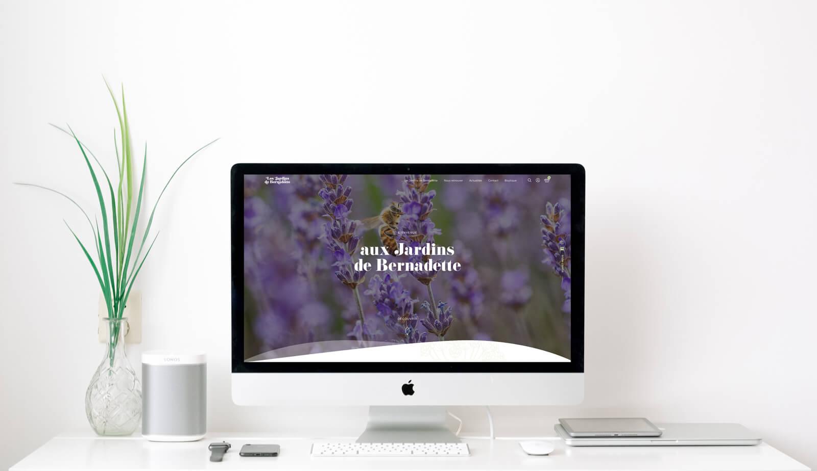 lezardscreation agence communication publicite vosges remiremont les jardins de bernadette les jardins de bernadette lezards creation mac