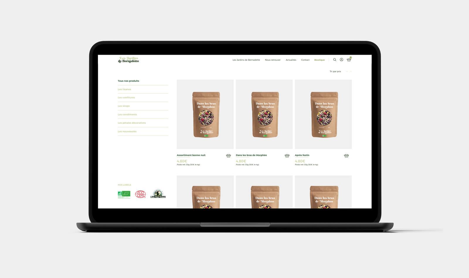 lezardscreation agence communication publicite vosges remiremont les jardins de bernadette les jardins de bernadette lezards creation ordinateur portable
