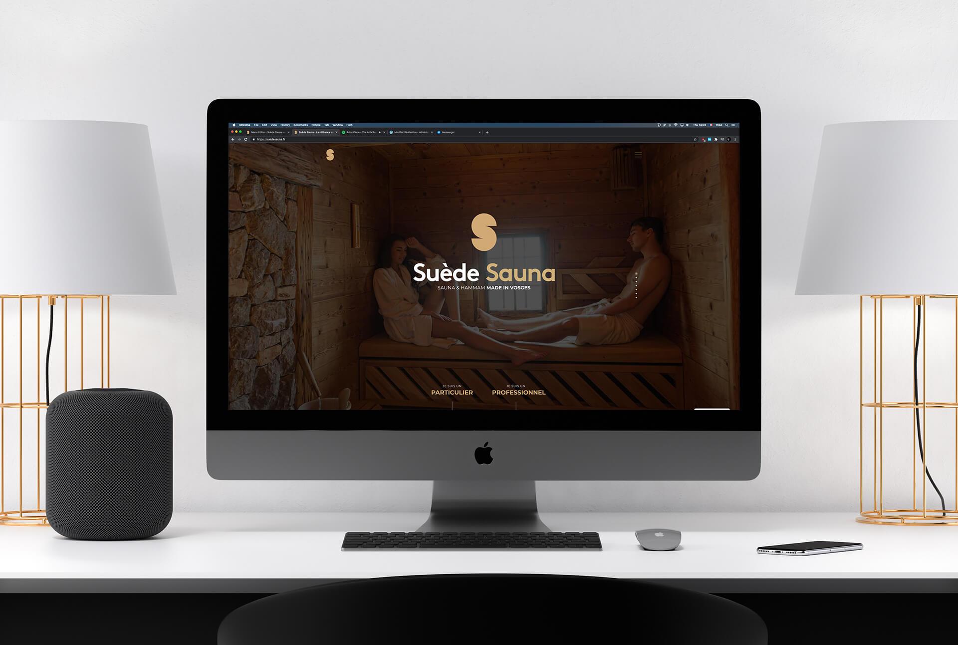 lezardscreation agence communication publicite vosges remiremont suede sauna web mockup