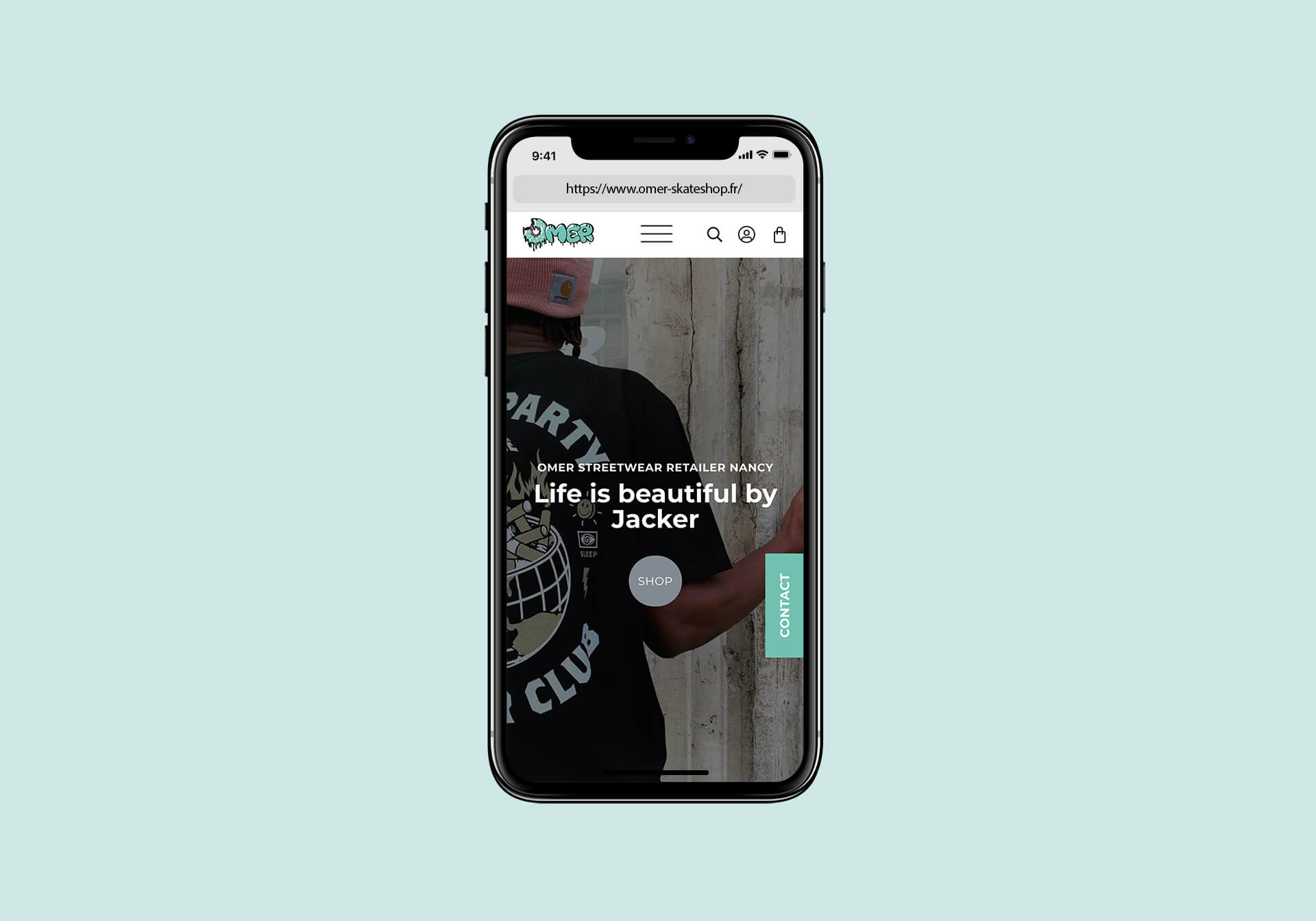 lezardscreation agence communication publicite vosges remiremont omer iphone x mockup omer