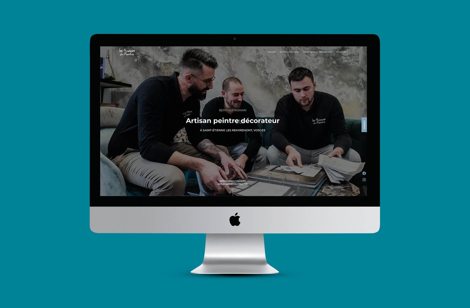 lezardscreation agence communication publicite vosges remiremont les nuances du peintre lezardscreation lesnuancesdupeintre site